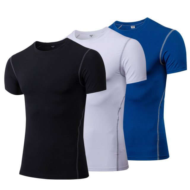 Comfortable Quick Drying Compressive Sports Men's T-Shirt