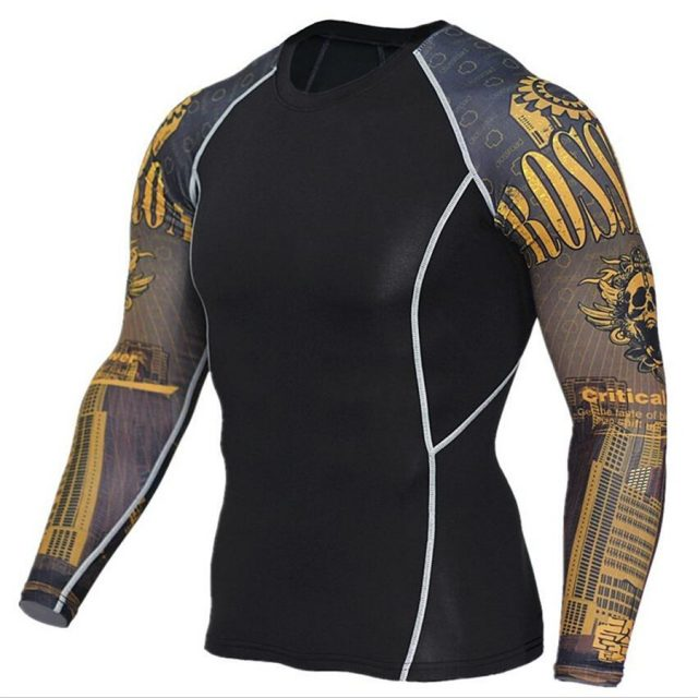 Men's  Long Sleeve Fitness T-Shirts