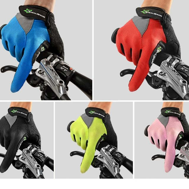 Breathable Wicking Men's Cycling Full-Finger Gloves