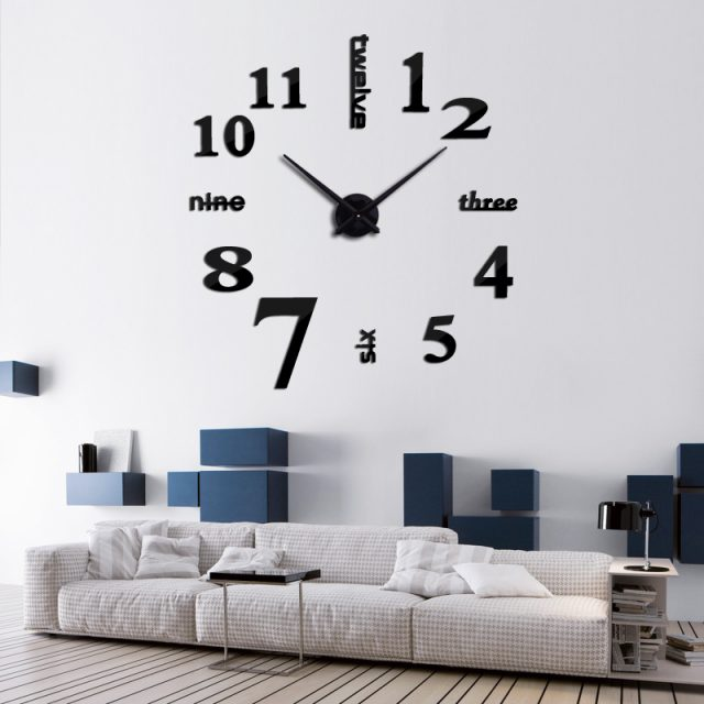 Fashion Large Quartz Clock Wall Sticker for Living Room