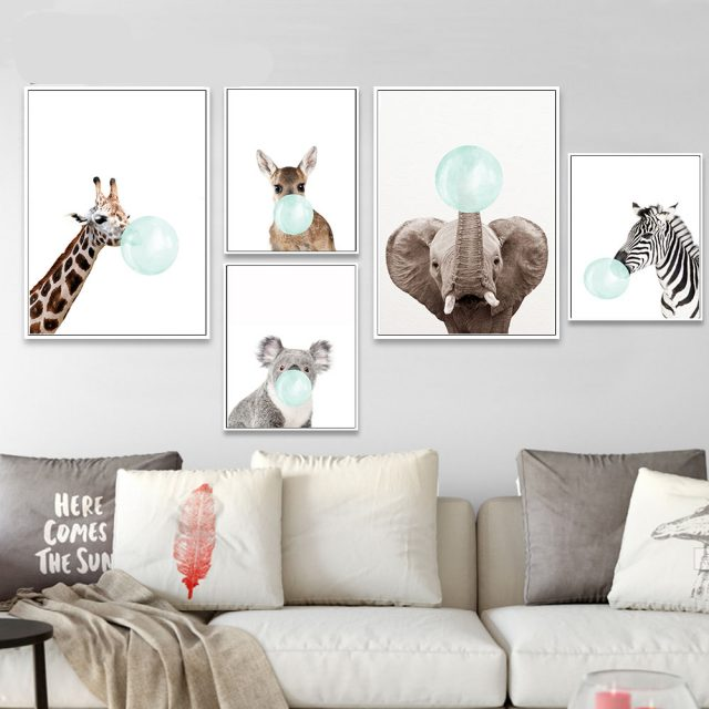 Cute Animals Canvas Poster