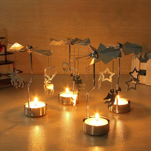 Spinning Carousel Mini Candle Holder