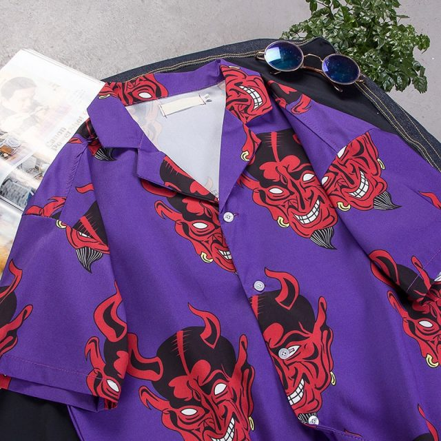 Red Devil Printed Party Men's Shirt