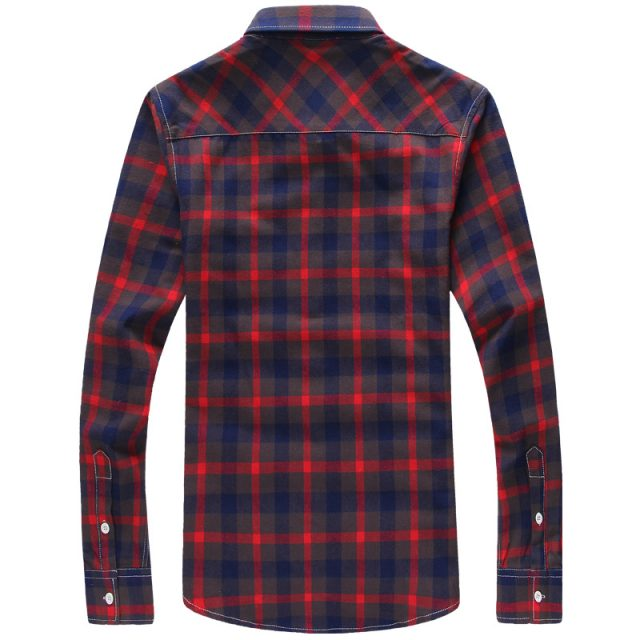 Men's Plaid Patterned Cotton Shirt