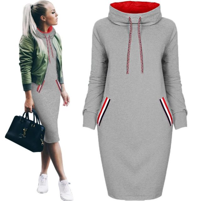 Women's Sport Style Striped Trim Dress