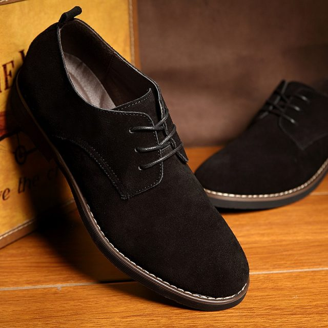 Men's Solid Oxford PU Shoes