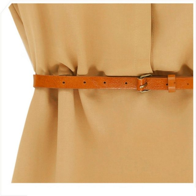 Women's Casual Straight Dress with Belt