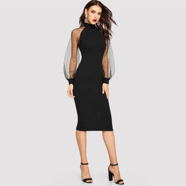Women's Bishop Sleeve Pencil Dress