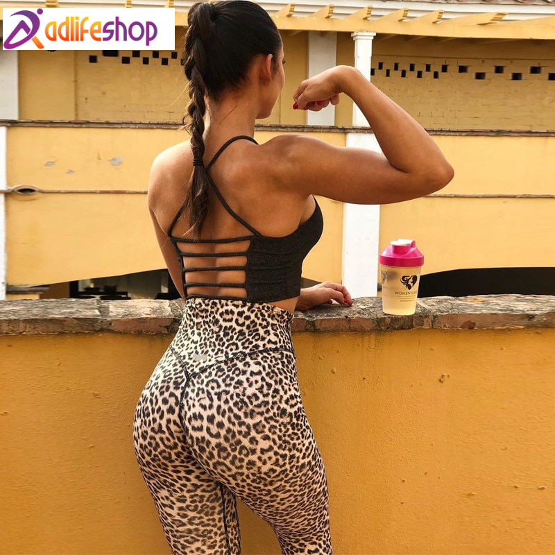 Hugcitar high waist leopard Sexy Push Up Leggings 2018 summer women Workout Polyester fitness trousers Activewear Slim casual pa