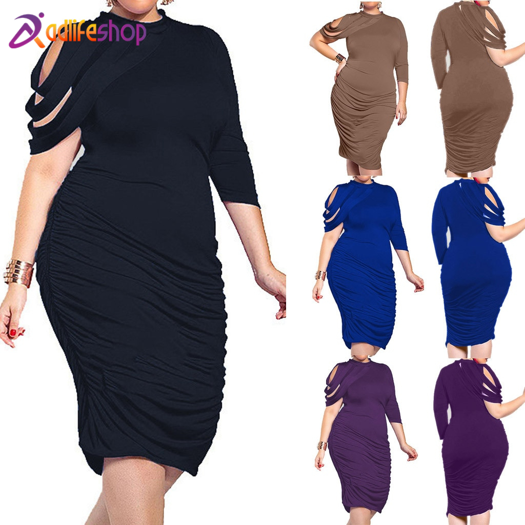 Womail dress woman Summer Sexy Plus Size O-Neck Irregular party Daily Casual fashion NEW 2019 A26