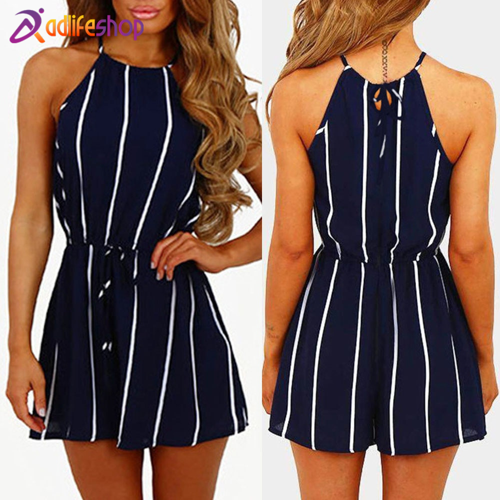 Womail bodysuit Women Summer Stripe Off Shoulder Sleeveless Rompers Jumpsuit Playsuit Bodysuit Party Fashion  2020  f28
