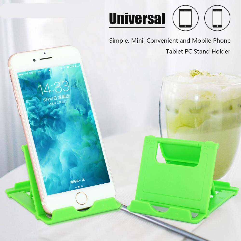 Universal Mobile Phone Holder for iPhone Samsung Support Tablet Foldable Adjustable Desk Tablet PC Stand for iPad Huawei Lenovo