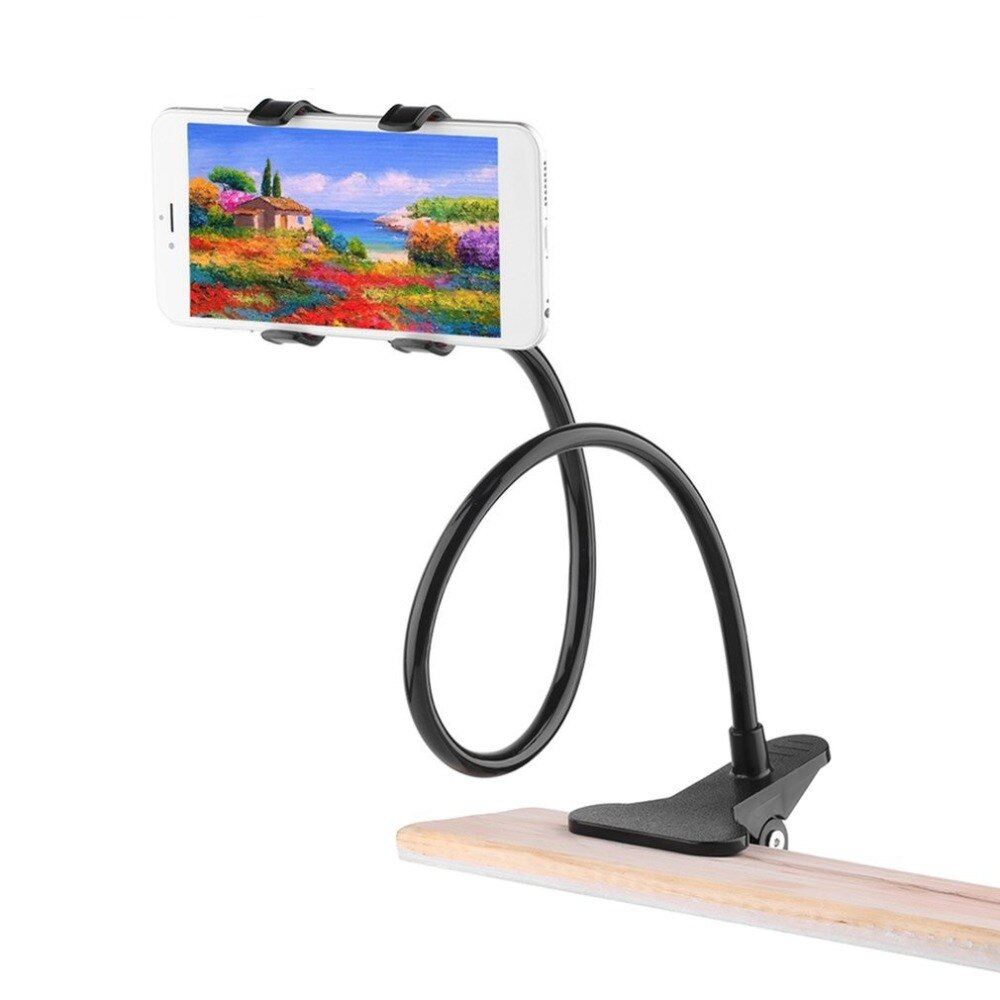 Universal Long Arm Mobile Phone Stand Holder For Samsung Ipad Air Mini Xiaomi 3.5 to 6.5 inch Phone Tablet Stand Holder Bracket