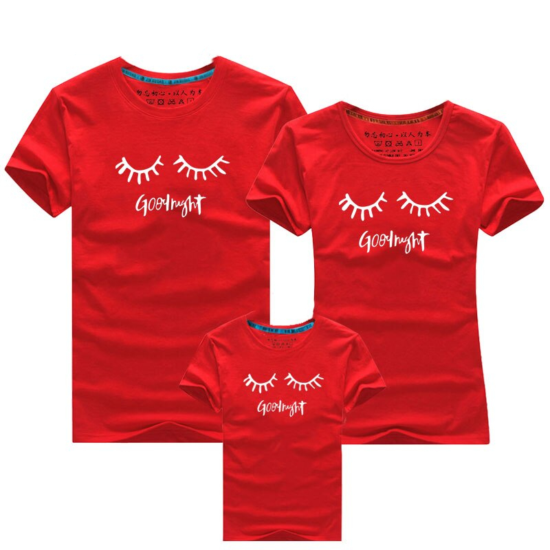 Christmas Family Clothing Cartoon eyelashes Family Matching Clothes Matching Outfits Clothes T Shirts Daddy Mother Son Outfits