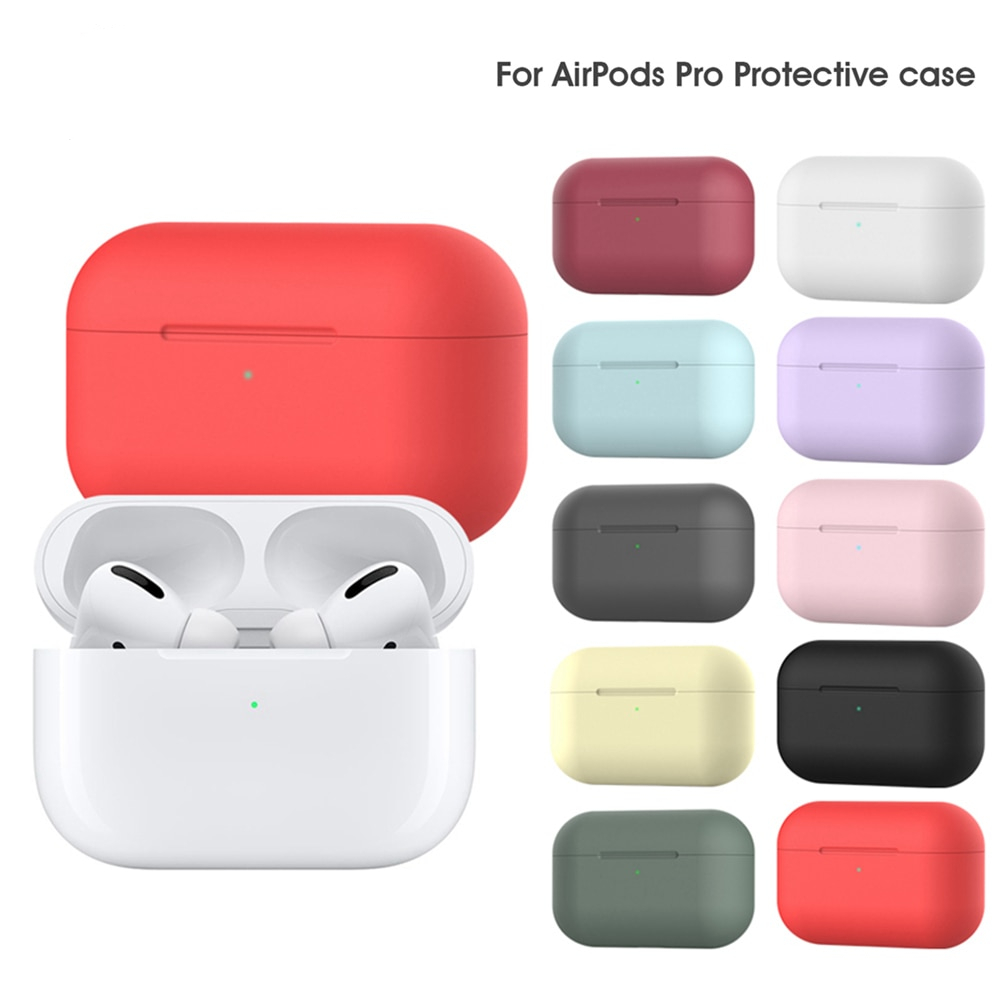 IKSNAIL Silicone Case Protective Cover For Apple Airpods Pro TWS Bluetooth Earphone Soft Cover For Airpods New Protective Cases