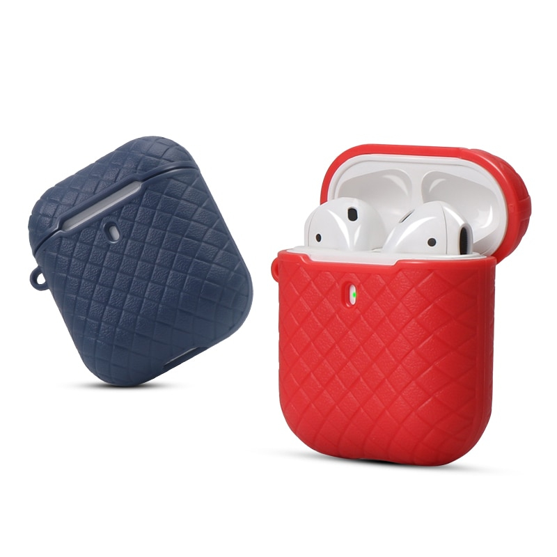 IKSNAIL Silicone Cases for Airpods 1/2 Protective Earphone Cover Case For Apple Wireless Bluetooth Airpod 2 Shockproof With Hook