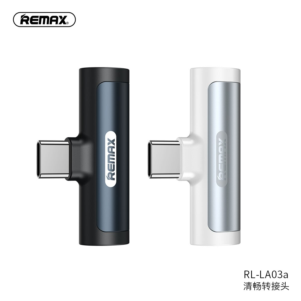 remax audio adapter charging and listening to music typec/lighting portable fast charging fashion gift