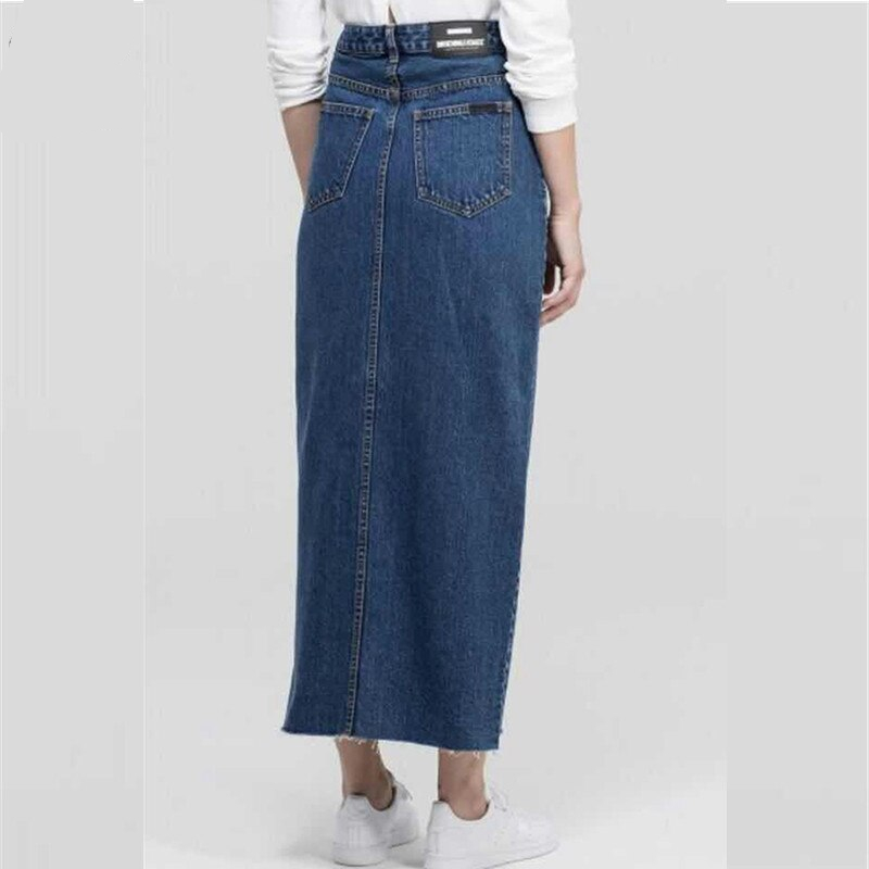 Wechery Denim Skirt Muslim Women Jeans Skirts Blue Long Clothing Islamic Turkish Islamic Middle East Clothes