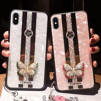 Luxury Creative Mirror Fashion 3D butterfly Phone Case For iPhone X XR XS MAX 11 Pro Max Cover For iPhone 7 8 6 Plus