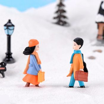 2pcs New Lover model Wedding doll figurine cartoon character fairy garden home miniature ornament desk decoration DIY accessory