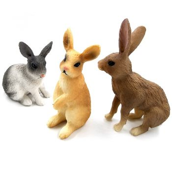 Simulation mini Rabbit Animal model figure hare figurine home decor miniature fairy garden decoration accessories modern statue