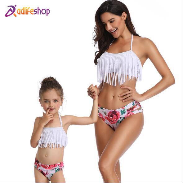 Mother Daughter Swimsuits Flower Mommy And Me Swimwear Bikini Family Matching Clothes Family Look Mom And Daughter Bathing Suit