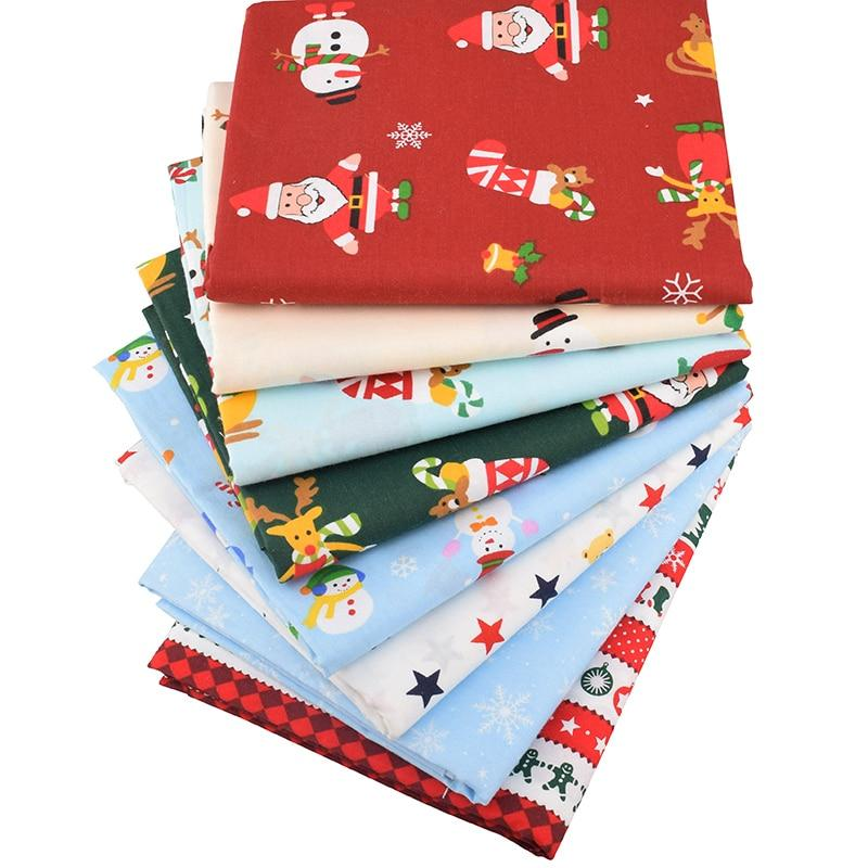 Chainho,Merry Christmas Series,Printed Twill Cotton Fabric,For DIY Quilting & Sewing Of Baby&Children's Sheet,Pillow,Material,