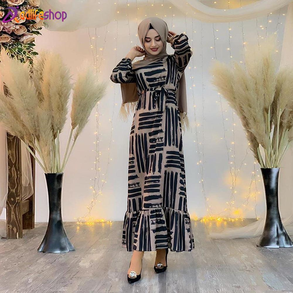 Eid Mubarek Muslim Fashion Dubai Abaya Turkey Hijab Summer Dress Kaftan Caftan Islam Clothing For Women Robe Femme Ete Vestidos